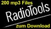 CD ROM Radiotools 200 gemafreie MP3 Files für Internet + Webradios